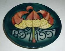 Rare MOORCROFT Green Centennial Coaster 1997