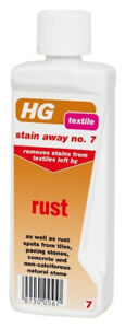 HG Stain Away No 7 Textile Remove Rust Stains From Textiles Fabrics Tiles Stone