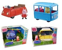 Peppa Pig Small Vehicle Sets With Figure Playsets - Car Campervan Bus Police Car