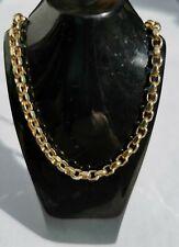 "9ct yellow gold solid diamond cut belcher chain 20"" length"