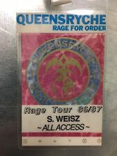 QUEENSRYCHE Rage For Order Rage Tour 1986 / 1987 All Access Pass