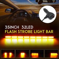 "35"" 32 LED Traffic Advisor Emergency Hazard Warning Strobe Light Bar Yellow Lamp"