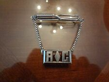 VINTAGE SWANK STERLING SILVER TIE CLIP WITH INITIALS-VERY DIFFERENT