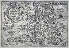 Antique map, Angliae regni florentissimi nova descriptio, c. 1600