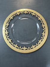 Arte Italica Vetro Gold Charger Plate