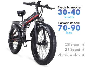 Shengmilo Electric Bike 1000W New Super Level Snow Bike Electric Bike Folding Eb