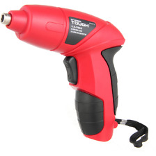 Red Power 4.8V Cordless Electric Screwdriver Kit with Charge and Bit Set