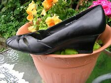 BHS SMART LEATHER SHAPED WEDGED SHOES SIZE 6