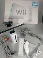 Nintendo Wii White Console Controller Remote With Box