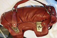 Red Leather B Makowsky Hobo Hand Bag original price over $469