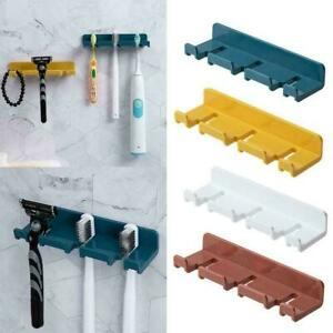 Toothpaste Toothbrush Holder Bathroom Wall Mount Stand moisture-proof S7G0