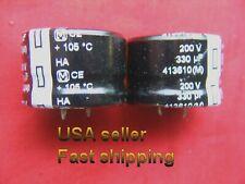 4 Pcs 330uf 200v Panasonic Electrolytic Capacitors Free Shipping