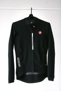 £210 Castelli Rosso Corsa Perfetto Ros Gore Windstopper Black Cycling Jacket XS