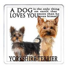 YORKSHIRE TERRIER dog coaster mug mat Matching Mug Available Can Be Personalised