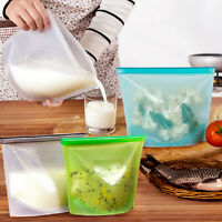 Reusable Vacuum Food Sealer Wrap Silicone Storage Container Bags Home Fridge use