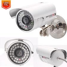 "1/3"" CMOS 1200TVL HD IR Outdoor Waterproof Infrared CCTV Security Camera NTSC MX"