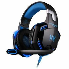 Casque Gaming Gamer filaire PC PS4 Xbox one Smarthpone Micro LED Stéréo Bleu