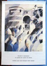 Intéressante Affiche Originale de  ROUGIÉ / Signée & Numérotée 12 sur 270 exp.