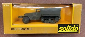 Solido Diecast Military US Army Half Track M3 WII Made France NOS Vintage No.244