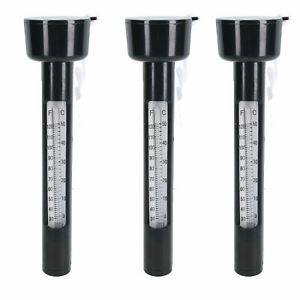 Pack of 3 Outside Garden Pond Floating Water Thermometers 0 - 50C