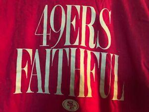 San Francisco 49ers~ Womens ~ L~ Jersey~49ers Faithful~NWT