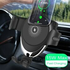 Automatic Clamping Wireless Car Charger Magnetic Mount 360 Phone Holder Air Vent
