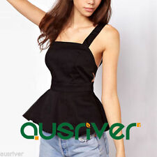 Women's Polyester Spaghetti Strap Sleeve Casual Tank, Cami Tops & Blouses