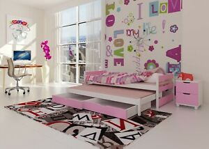 Kids trundle bed with drawers TOMI real wood & MDF FREE mattresses free delivery
