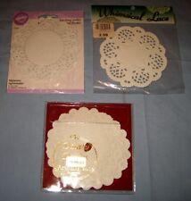 Nos Lot 60 Paper lace doilies white unused original package Wilton/Artifacts!