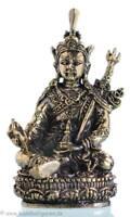 Glücksbringer Talisman Set - Padmasambhava Guru Rinpoche + Beutel + Mantrarolle