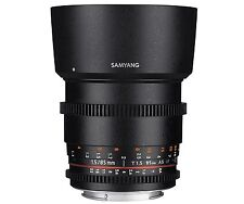 Samyang 85 Mm T1.5 VDSLR II Manual Focus Video Lens for Canon DSLR Camera