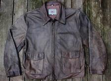 VTG Mens Cooper 1980s Indiana Jones Leather Bomber Jacket Distressed L Brown