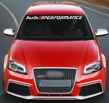 For AUDI PERFORMANCE VINYL STICKERS Bumper Windshield BANNER JDM DECAL Graphic