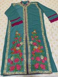 Pakistani/Indian Kurti Kurta Light Blue Kameez Size L/44 Top Tunic Shirt Dress