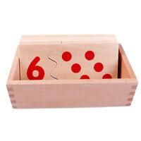 Montessori en bois Matériel didactique Nombre Puzzles Enfants Apprenez les