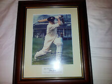 Framed Don Bradmam Sporting memorabilia signed certified - cricket