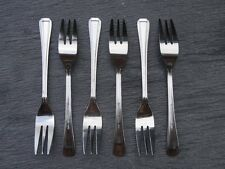 BRAND NEW Cake / Pastry Forks Harley Pattern Cutlery x 6