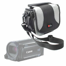 Black/Silver Camcorder Case Bag for Canon Legria Hf R606, Vixia Hf R60, Hf R600