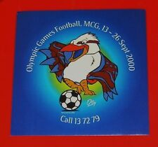 2000 Olympic Games Football Soccer Sticker Melbourne MCG Mascot OLLY Mint 10x10
