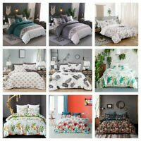 Flowers Soft Duvet Cover Set Twin Queen King Size Bedding Set Pillow Cases US