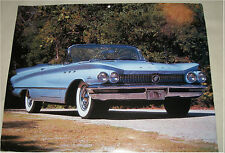 1960 Buick LeSabre convertible car print (blue, no top)