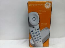 GE Slimline Phone Landline Telephone #29253GE1 White Corded Easy Dial Buttons