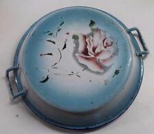 ancien plat émaillé décor de fleurs