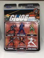 🔥🐍🔥2020 GI Joe Jada Nano Metalfigs Snake Eyes / Storm Shadow / Duke / Destro