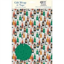 Gift Wrap & Tags - Bottles (2 Sheets+Tags)