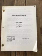 The Talented Mr. Ripley movie script - Anthony Minghella 1997