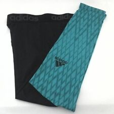 Adidas Performance Climalite TI Tights Pants Ice AI3908 Black Green XL New