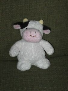 """Dakin Plush Cow Small 7"""" Black White Pink First Bible Animals Baby Lovey"""
