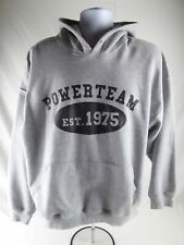 The Power Team Christian Weight Lifting Gray Hoodie Sweatshirt Adult XL