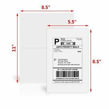 200 Half Sheet Shipping Labels 8.5x5.5 Self Adhesive For Paypal eBay USPS Amazon